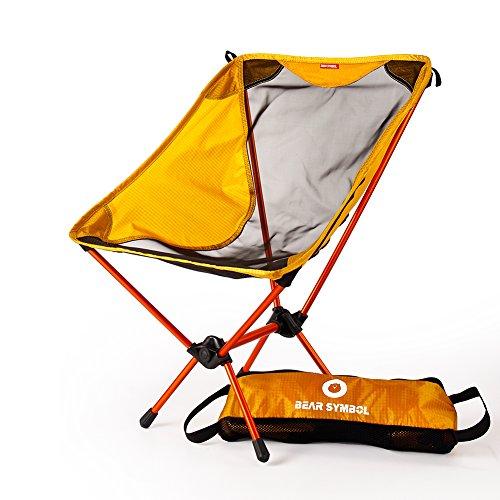 Chaises De Camping Pliantes D'extérieur Confortable Compact Ultra Léger Moon Leisure Pour Camping Randonnée Voyage Chasse Pêche(Orange),Orange
