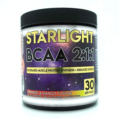 Perihelion Nutrition Starlight BCAA 2:1:1 Amino Acids Supplement Vegan 30 Servings L-LEUCINE, L-ISOLEUCINE, L-VALINE (Orange & Mango)