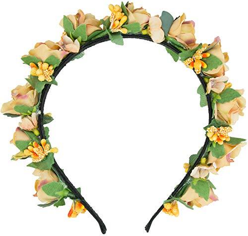 Trachtenland Blumen Haarreif Sabia - Apricot