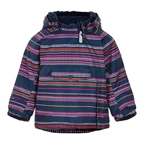 Color Kids Baby-Mädchen Jacket AOP-Stripe Thermojacke, Fuchsia Pink, 86