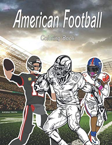 American Football Coloring Book: For adults ,