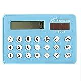 DealMux abeja figura de dibujos animados portátil de 8 dígitos de la calculadora, azul maya