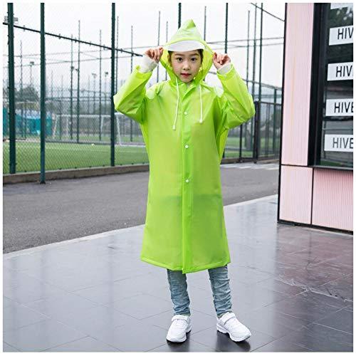 MULMF Waterdichte Outdoor Reizen Kids Regenjas Voor Rugzak Meisje Jongen Student Regenkleding Poncho Kids Regenjas - Maat: L (110-130) Hoogte Groen