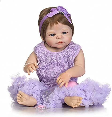 GHCX Silikon-Simulation Reborn Puppe Sü mädchen Kann Das Wasser Begleiter Spielzeug Kinder Kreatives Geburtstagsgeschenk Eingeben 5cm