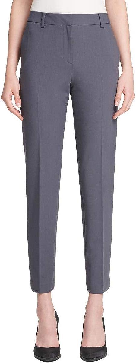 DKNY Womens Fixed Waist Casual Trouser Pants, Grey, 18