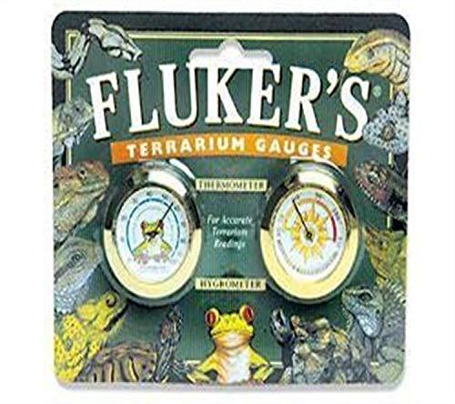 Fluker's Round Thermometer/Hygrometer Combo Pack für Reptilien