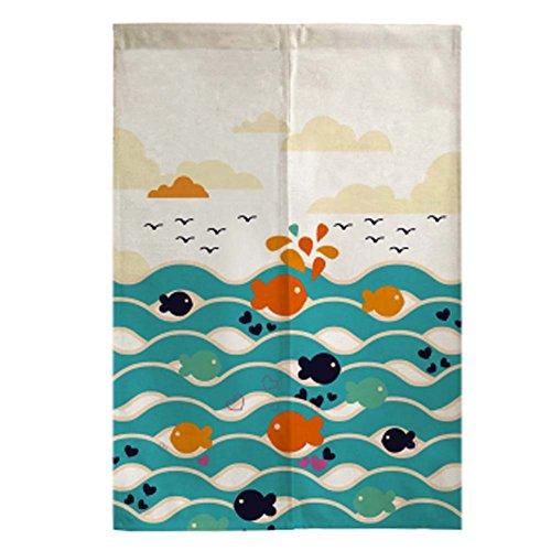 George Jimmy Sushi Bar Restaurant Decor Door Hallway Curtain Japanese Noren Entrance Curtain, 01