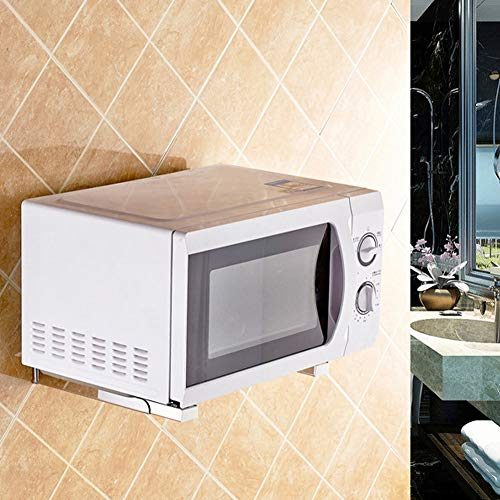 Meiyya Disfrute de Verano Estante de Montaje en Pared, Estante de Estante, Soporte de Marco de Estante de Horno microondas Esquina Redondeada Universal para Cocina casera