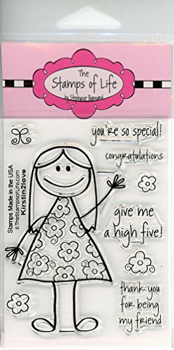 Cute Little Girl Stamps for Card-Making and Scrapbooking Supplies by The Stamps of Life - Kirstin2Love