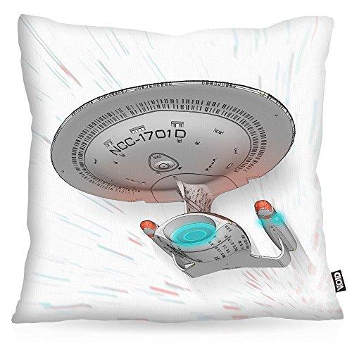 VOID NC-1701-D Kissenbezug Kissenhülle Outdoor Indoor Trekkie Trek Star, Kissen Größe:40 x 40 cm