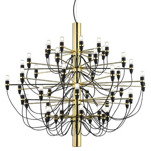 Flos - Lampada a sospensione 2097 L – Ottone Gino Sarfatti 1958, acciaio, ottone, ferro, lampada da soggiorno – Lampada da tavolo – Lampada a sospensione – Plafoniera