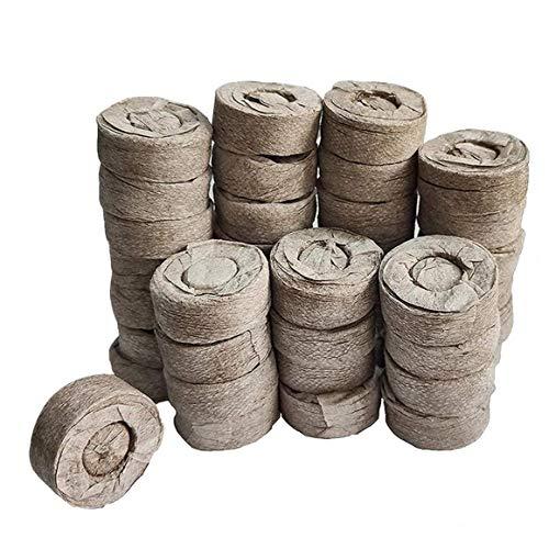 Berrywho 50pcs Torfpellets Boden Jiffy Samen Starter Stecker Vermeiden Wurzel Shock für den Innenbereich Garten Succulents Planter (30 mm)
