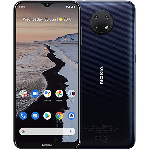"Nokia G10 Smartphone Skandinavisches Design, Dual-SIM, RAM 3GB, ROM 32GB, bis zu 3 Tage Akkulaufzeit, verbessertes 6,5""-Bildschirm, Dreifachkamera mit KI-Modi, Android 11 - Night"