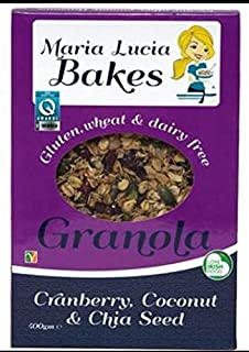 Maria Lucia Bakes Cranberry, Coconut and Chia Seed Granola, 325 g