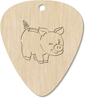 7 x 'Winking Piggybank' Guitar Picks / Pendants (GP00012804)