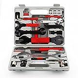 femor Kit de Herramientas para Bicicleta, Juego Práctico de 48 Piezas con Multifunción para Reparación y Montaje de Bicicleta, con Maletín (Plata 3)