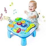 Yellcetoy Aktivitätstisch Baby Spielzeug 6 bis 12 Monate Musik-Lerntisch Aktivität Spielzeug für Jungen Mädchen ab 6 Monaten