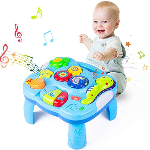 Yellcetoy Activity Table Baby Toys 6 to 12 Months Musical Learning Table...