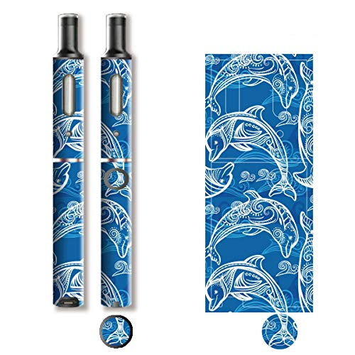 電子たばこ タバコ 煙草 喫煙具 専用スキンシール 対応機種 プルーム テック プラス Ploom TECH+ Ploom Tech Plus イルカ (Dolphin) イメージデザイン 06 イルカ (Dolphin) 01-pt08-0640