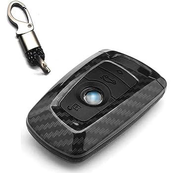 Ontto For Bmw Smart Car Key Case Cover Key Bag Abs Rubber Key Protection Keychain For Bmw1 3 4 5 6 7 Series X3 X4 M2 M3 3 Button Carbon Fiber Black Amazon De Auto