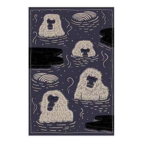 Moooi Carpets Indigo Macaque Blue Teppich, blau, weiß, schwarz LxB 300x200cm