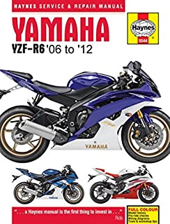 2006-2012 Yamaha YZF R6 HAYNES REPAIR MANUAL