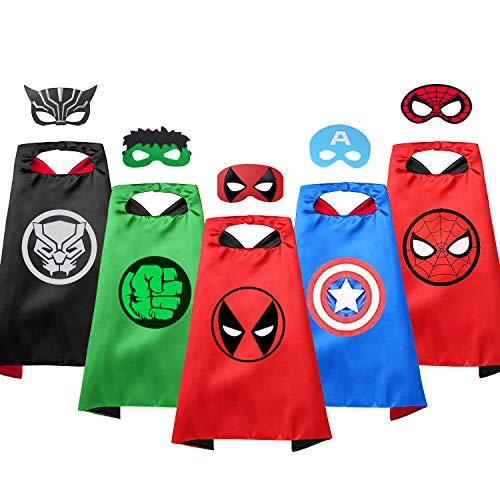 VOSOE Superhero Capes with Masks Cosplay Costumes Birthday Party...