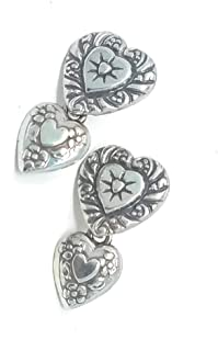Brighton Double Heart Vintage Post Earrings
