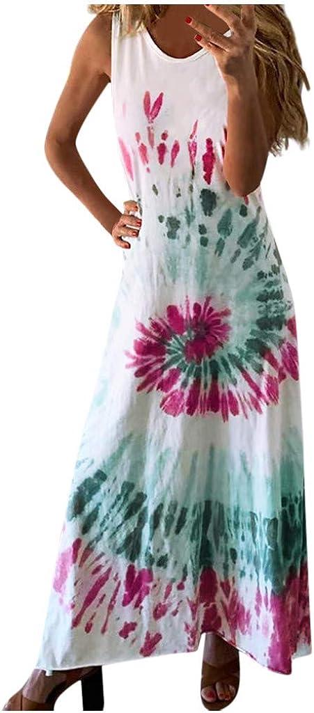Womens Dresses Casual Surprise price Summer Sundress Regular discount Gradient Dy Tie Sleeveless