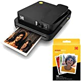 Kodak Smile Classic Digital Instant Camera with Bluetooth (Black) w/ 10 Pack of 3.5x4.25 inch Premium Zink Print Photo...