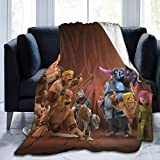 DISGOWONG Cla-sh of cl-ans Blanket Flannel Soft Warm Lightweight Sofa Fleece Blanket,3D Print Throw Woolen Blankets Suitable for Kids,Decorate Bed Couch 60'×50'