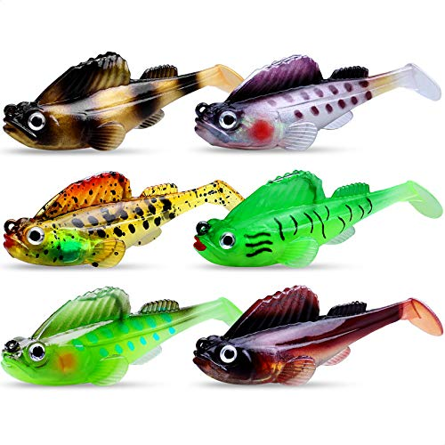GOTOUR Soft Fishing Lures, Long Casting Jigging Lure, Lifelike Swimbait, Freshwater or Saltwater Soft Lure for Bass Trout Fishing, Fishing Gifts for Men