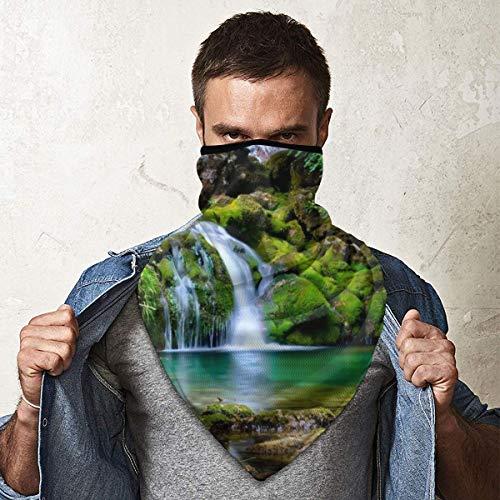 Bandana Gesichtsmaske Unisex Radfahren Schal Halstuch Sturmhaube Kopfbedeckung Stirnband für Outdoor Radfahren Motorrad mit UV-Schutz Vercors Forest Fall