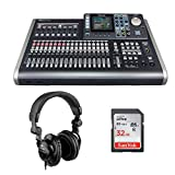 Tascam DP-24SD 24-Track Digital Portastudio with Polsen HPC-A30 Monitor Headphones & 32GB Memory Card Bundle