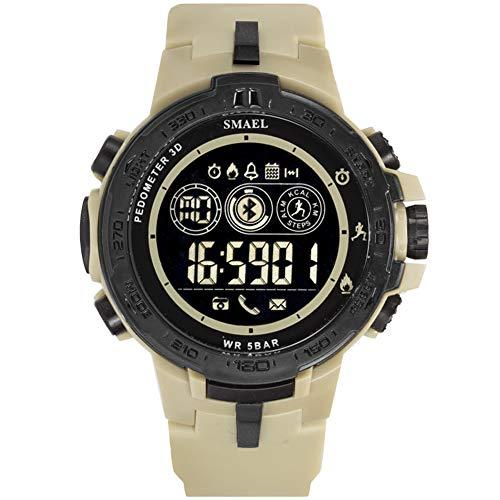 Elektronische Sport Horloge, Bluetooth Smart Horloge Stappenteller Herinnering, Waterbestendig tot 50 M, Voor Jongens Tieners Junior Mannen Vrouwen, voor ios En Android