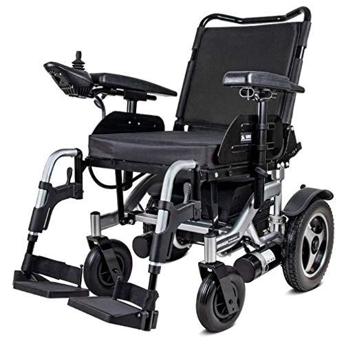 Wtbew-u Elektrische rolstoel, opvouwbaar, gemotoriseerd, opvouwbaar, compact, krachtige motor met dubbele rolstoel