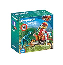 7. PLAYMOBIL Motocross Bike with Raptor Building Set