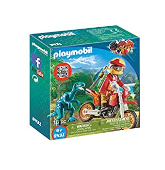 PLAYMOBIL Motocross Bike with Raptor Building Set