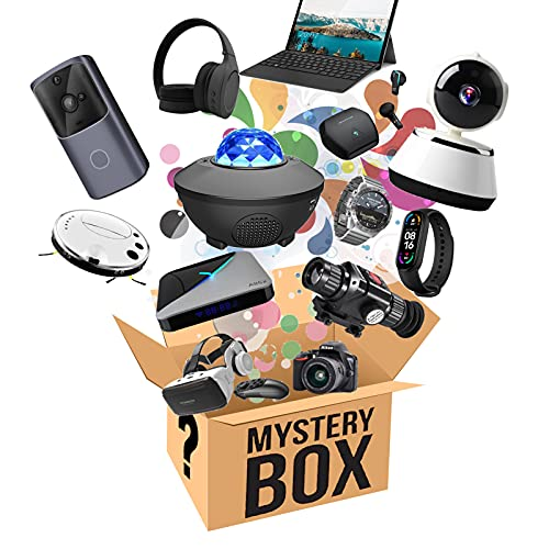 Mystery Box, Elektronisch überraschungsbox, Iberraschungspaket Enthält Intelligente Uhren, Gamepads, Sternenhimmel Projektor, Bluetooth Headsets, Drohnen, Intelligente Kehrroboter Usw, Zufällig