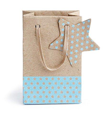 Vivant bébé Craft Mini sac en papier (9 x 6 x 4 cm, Bleu clair, Lot de 10)