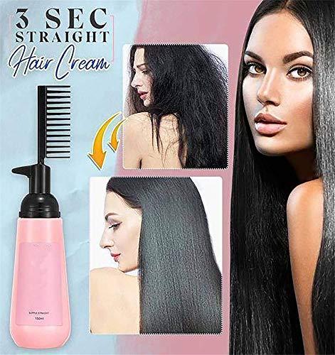 3 Sec Straight Hair Cream, Hair Straightening Cream for Women Permanent, Hair Straightener Cream for Curly Hair, Straight Fast Straightening Elixir -for Hair Care