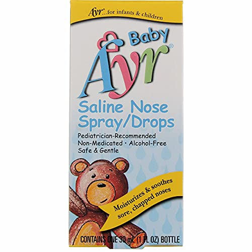Ayr Baby Saline Nose Spray/Drops - 1 oz, Pack of 3