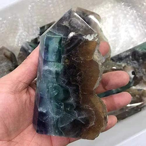 Natural Quartz raw Fluorite Wand Fluo Tower Crystal ! Super beauty product restock quality top! Stones Rough overseas