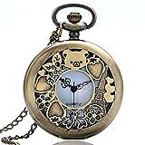 Reloj de Bolsillo para Hombre, diseño de Espejo retrovisor Dorado, Cuarzo, Reloj de Bolsillo, Hombres