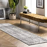 nuLOOM Misty Shades Deedra Runner Rug, 2 Feet 5 Inch x 9 Feet 5 Inch, Grey