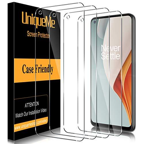 UniqueMe [4 Pack] Vetro Temperato compatibile con OnePlus Nord N100 Pellicola Protettiva, [Bubble Free] [9H Hardness] Anti-Scratch [Protezione superiore]