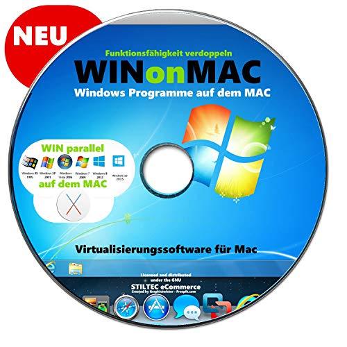 WINDOWS auf dem MAC Virtualisierungssoftware für Mac Desktop für Mac CD DVD