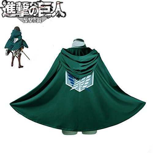 SYMTOP Attack On Titan Shingeki No Kyojin Cape Umhang Mantel Legion Kostüm Grün M