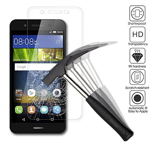 AICEK [2 Pack] Huawei P8 Lite Smart Schutzfolie, Touch Kompatibel Huawei P8 Lite Smart 5,0 Zoll Displayschutzfolie Panzerglas Displayschutz Screen Protector 9H Hardness Gehärtetem Glas - 3