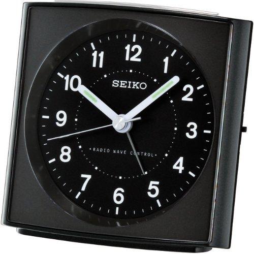 Seiko Funkwecker schwarz Kunststoff QHR022K